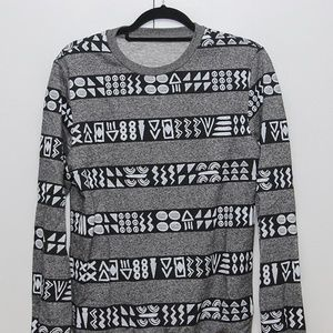 Tribal Patterned Grey Sweater